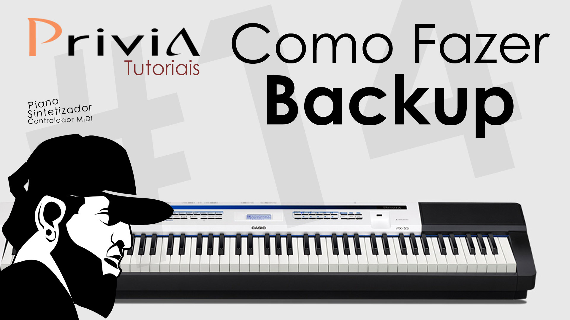 Como Fazer Backup do Casio Privia PX-5S?