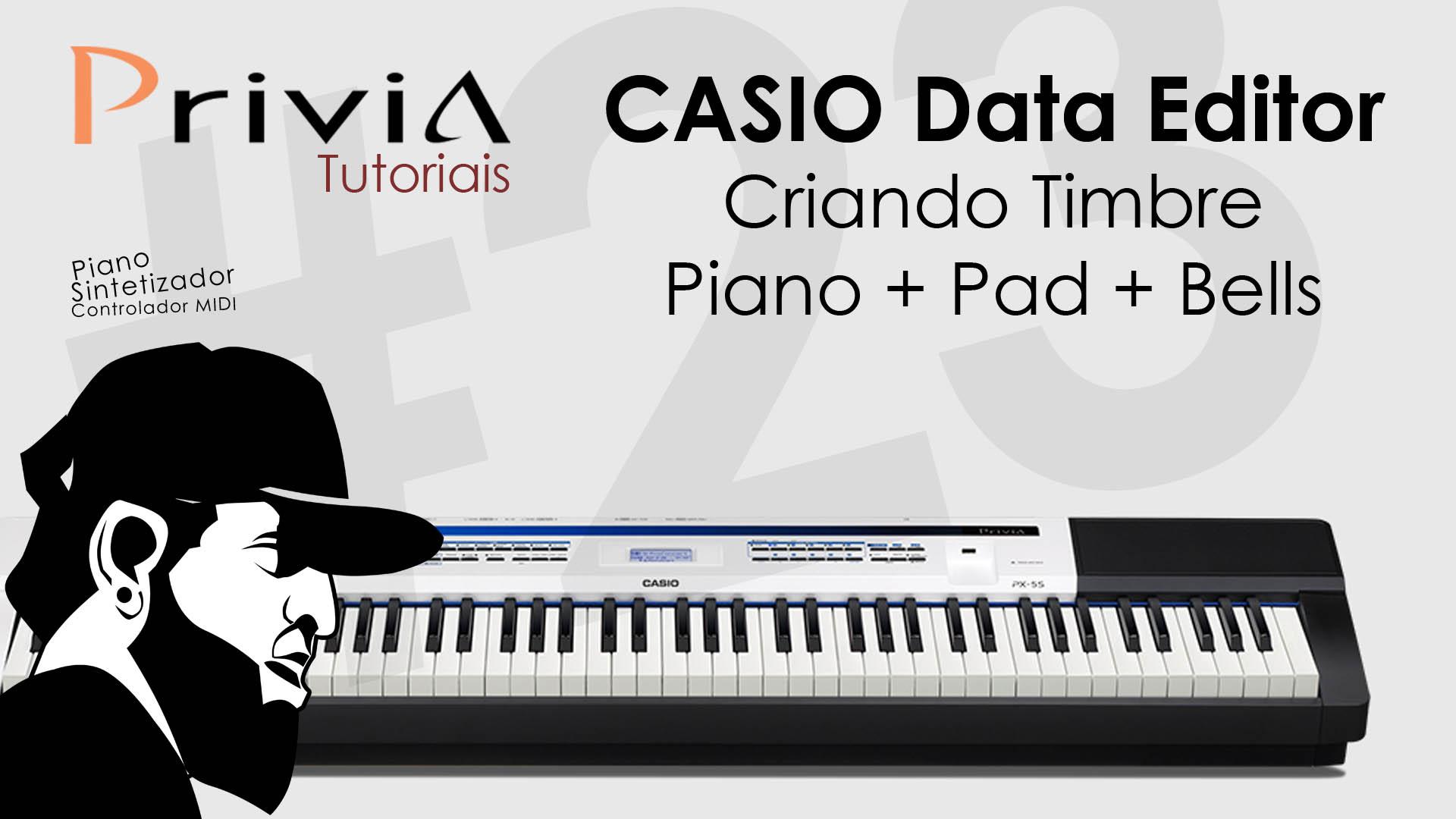 Criando Timbre – Piano, Pad e Bells (Data Editor)