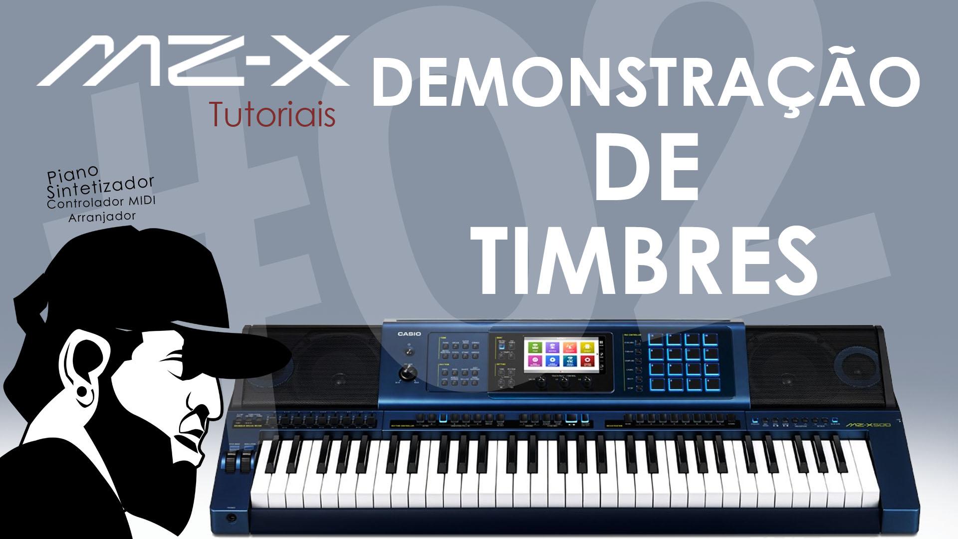 Demonstração Timbres  (Inclusive Órgãos Drawbar) | Tudo Sobre O Casio MZ-X500