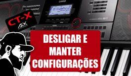 Desligue o Teclado Sem Perder a Configuração (Auto Resume) | Casio CT-X5000 (CTX5000EP09)