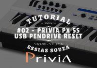 Tutorial Casio Privia PX 5S #002 – Conexões USB MIDI Pendrive – Como Resetar