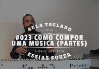 Aula de Teclado #023 – Como Compor Uma Música – Partes e Trechos da Música