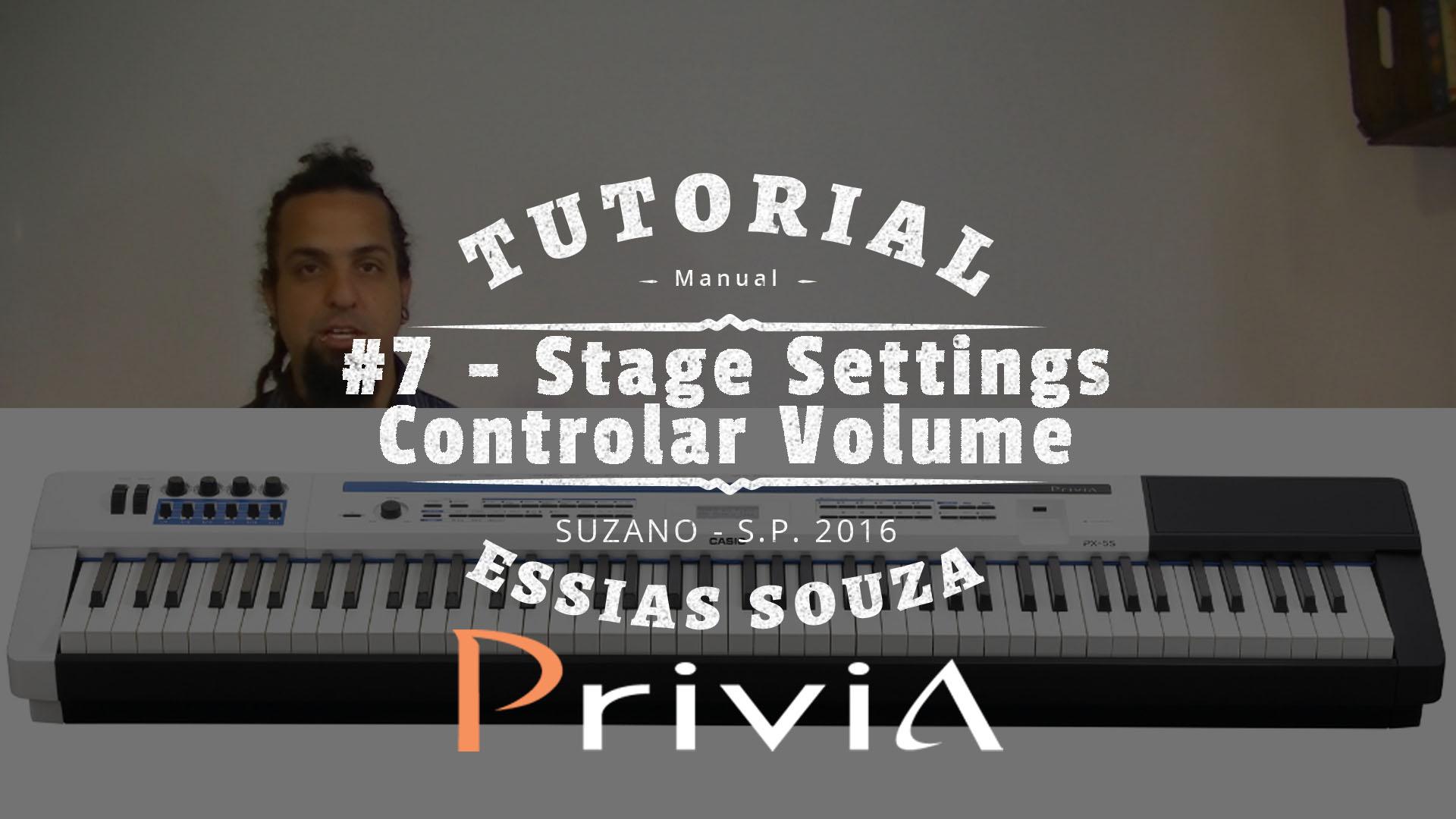 Tutorial Casio Privia PX 5S #7 – Stage Settings – Como Controlar Volume Individual?