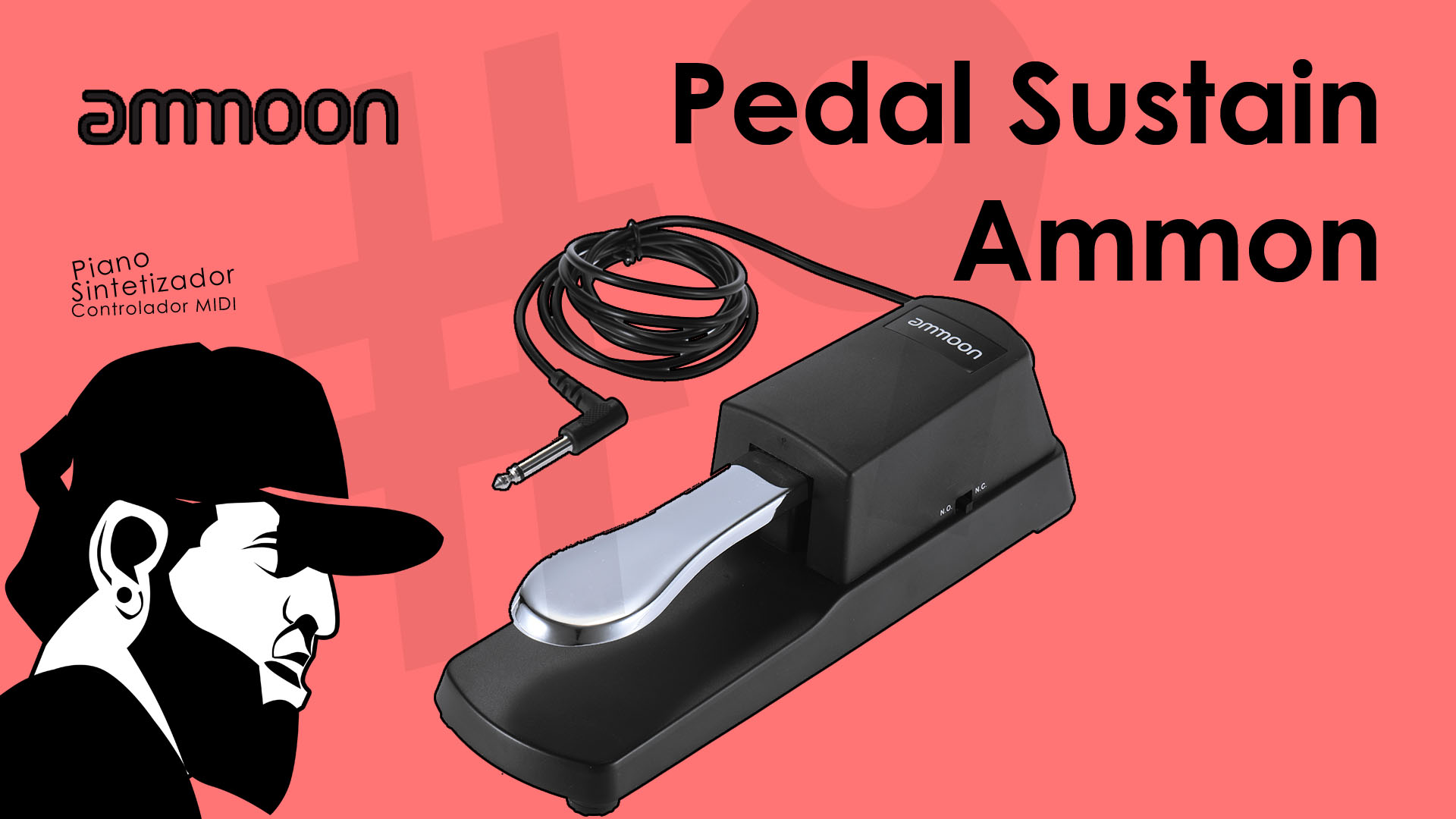 Teclado de Baixo Custo #9 – Review Pedal De Sustain Ammoon (Aliexpress)