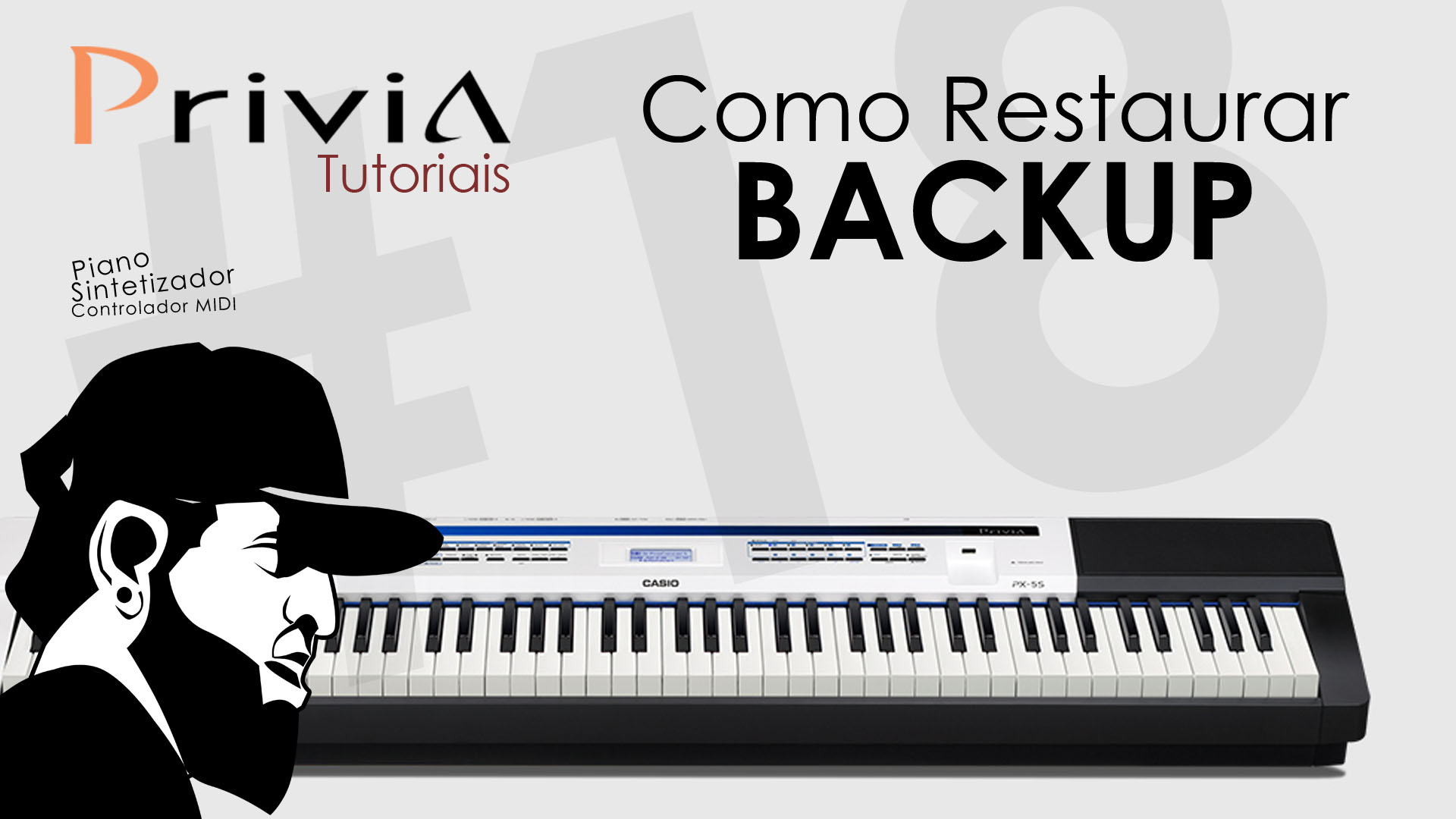 Tutorial Casio Privia PX 5S #18 – Como Restaurar Backup do Casio Privia PX-5s