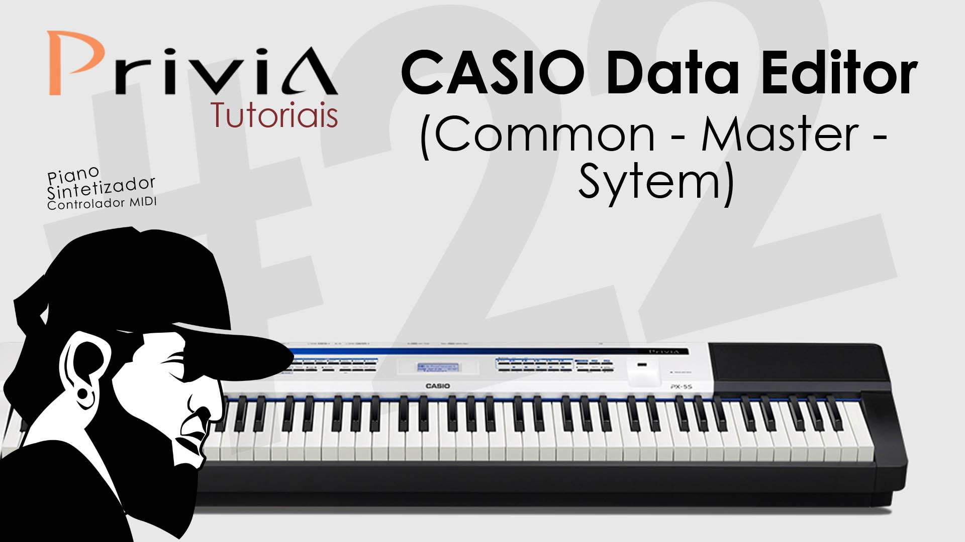 Como Utilizar o Software Editor Casio Data Editor For PX-5S? (Common e System)