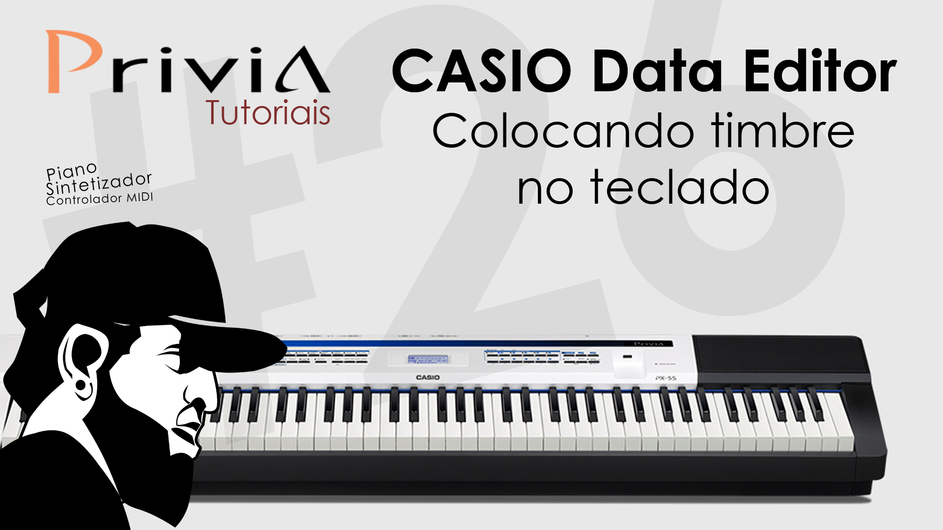 Como Colocar Timbres No Teclado Usando o Software Editor | Tutorial Casio Privia PX-5S #26