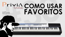 Como Funcionam os Favoritos no Privia PX-5S | Tutorial Casio Privia PX-5S #30