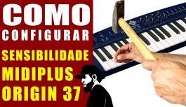 Configurar Sensibilidade (MIDIPlus Origin 37 – AMW P37) | Teclado Musical Mais Barato #20