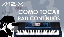 Como Tocar PAD Contínuo No MZ-X500 | Casio MZ-X500 (MZXEP13)