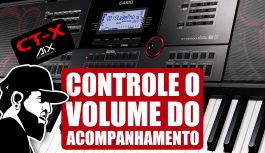 Como Controlar o Volume do Acompanhamento | Casio CT-X5000 (CTX5000EP10)