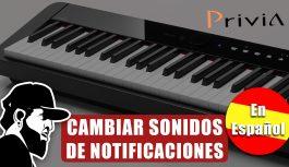 Configurando Sonidos de Notificaciones | Casio Privia PX-S1000 (PXSMEP03)