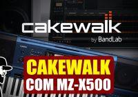 Cakewalk Bandlab (Instalar e Controlar Com MZ-X500) | Tudo Sobre Teclado Musical