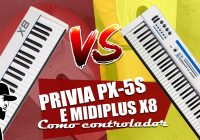 MIDIPLUS X8 VS Casio Privia PX-5S Como Controlador | Tudo Sobre Teclado Musical
