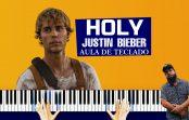 Como Tocar Holy – Justin Bieber (Aula de Teclado) | Tutoriais de Teclado