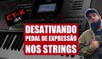 Desativando O Pedal De Sustain Nos Strings   Casio CT-X5000